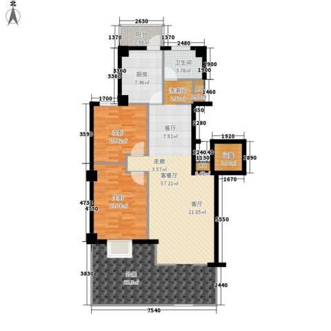 国际风情2室1厅1卫1厨111.00㎡户型图