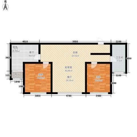 金广东海岸2室0厅1卫1厨101.00㎡户型图