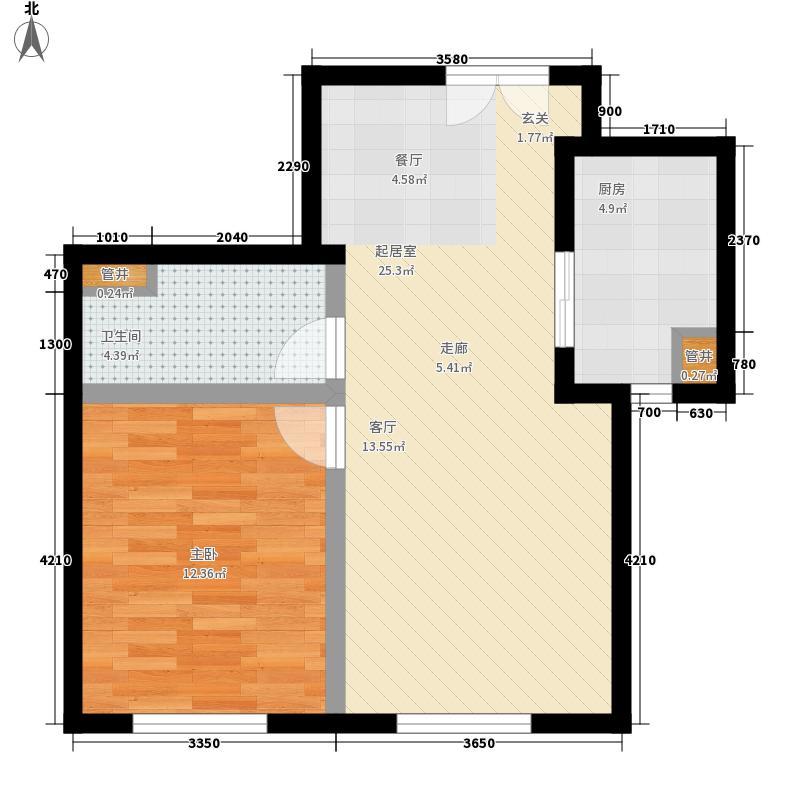 旺海公府二期高层10号楼标准层E3户型