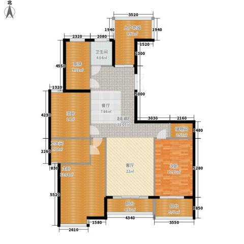 江阴外滩名门3室0厅2卫1厨164.00㎡户型图