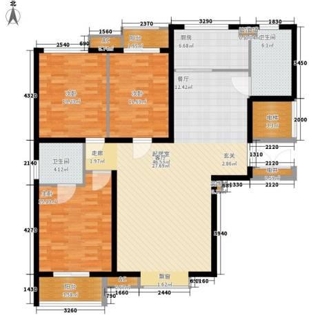 金裕花园3室0厅2卫1厨131.00㎡户型图