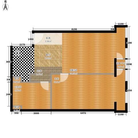 云鼎1室0厅1卫0厨89.00㎡户型图
