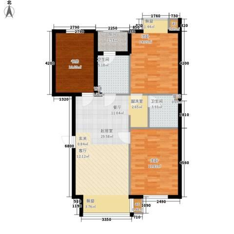 名仕雅居3室0厅2卫0厨108.00㎡户型图