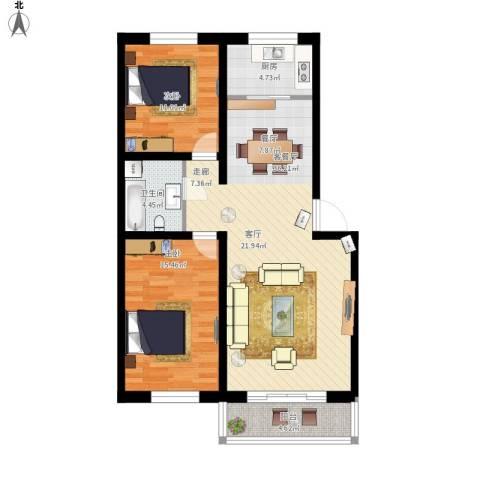 锦绣园2室1厅1卫1厨110.00㎡户型图