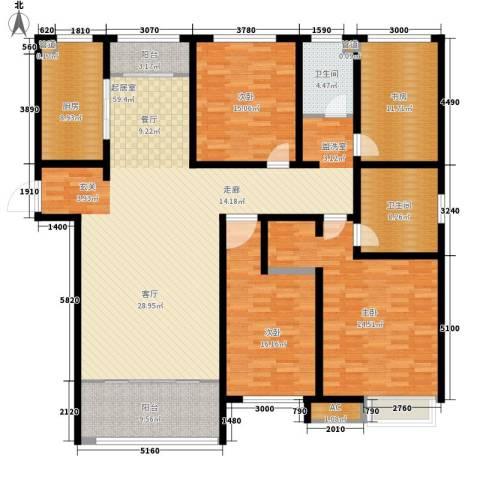 泉景天沅和园雅园4室0厅2卫1厨184.00㎡户型图