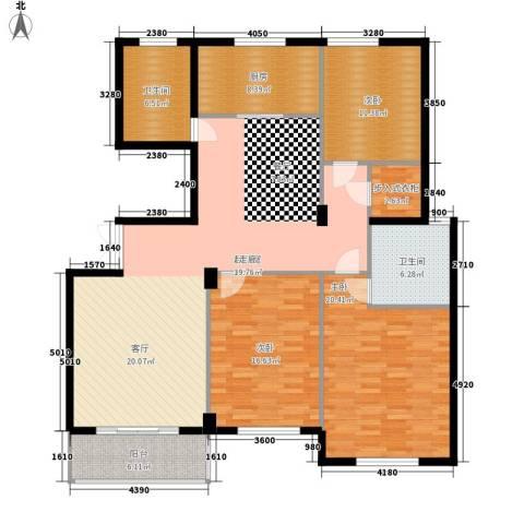 江阴外滩名门3室0厅2卫1厨139.00㎡户型图