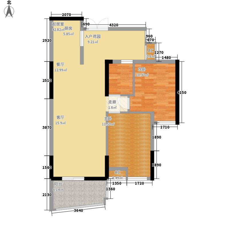 星城国际花园四期79.00㎡星城国际花园四期户型图6栋F5户型2室2厅1卫1厨户型2室2厅1卫1厨