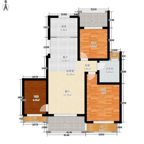 银河湾紫苑二期3室0厅1卫1厨131.00㎡户型图