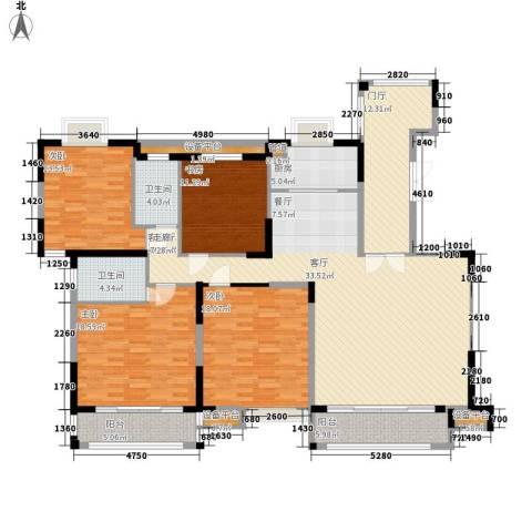 华强城・卡塞雷斯4室1厅2卫1厨176.00㎡户型图