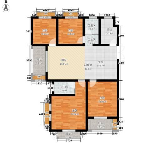 银河湾紫苑二期4室0厅2卫1厨157.00㎡户型图