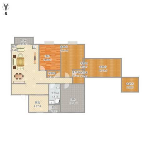 兴越小区2室1厅1卫1厨183.00㎡户型图