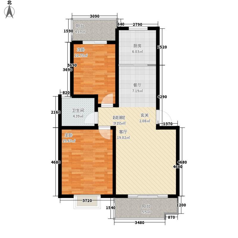 富丽阳光二期88.00㎡富丽阳光二期2室户型2室