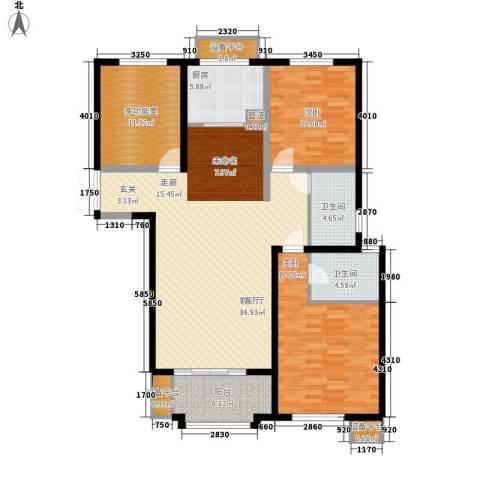 东方米兰国际城2室1厅2卫1厨125.00㎡户型图