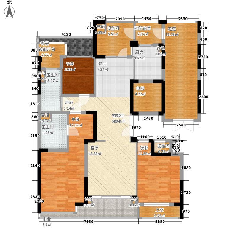 绿城玫瑰园142.00㎡绿城玫瑰园户型图A6户型图3室2厅2卫1厨户型3室2厅2卫1厨