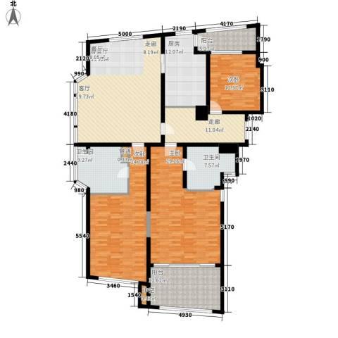 香梅花园五期3室1厅2卫1厨182.00㎡户型图