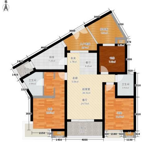 优活城3室0厅2卫1厨146.00㎡户型图