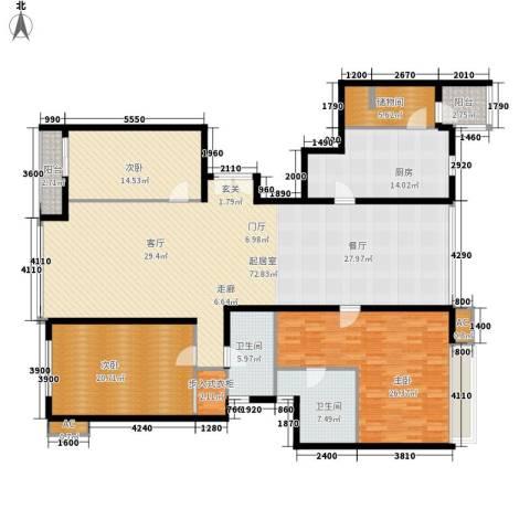 东方曼哈顿尚东区3室0厅2卫1厨196.00㎡户型图