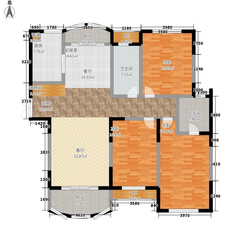 高迪晶城167.00㎡高迪晶城3室户型3室