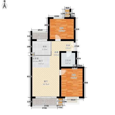 江山如画小区2室0厅1卫1厨80.17㎡户型图