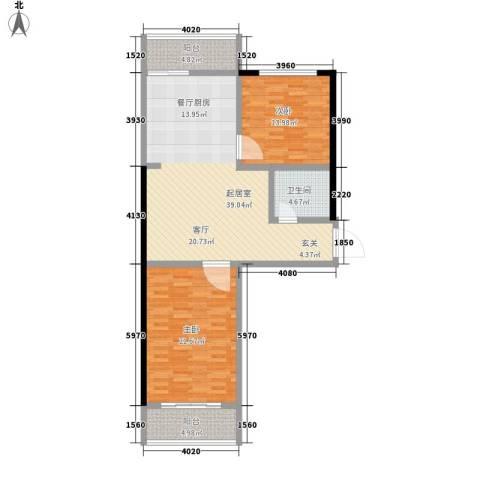 桃园商城2室0厅1卫0厨100.00㎡户型图