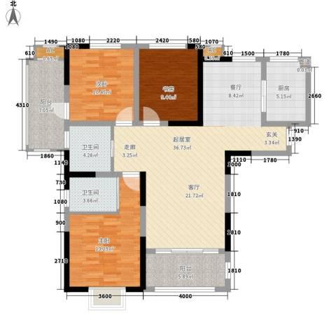 安大磬苑3室0厅2卫1厨140.00㎡户型图