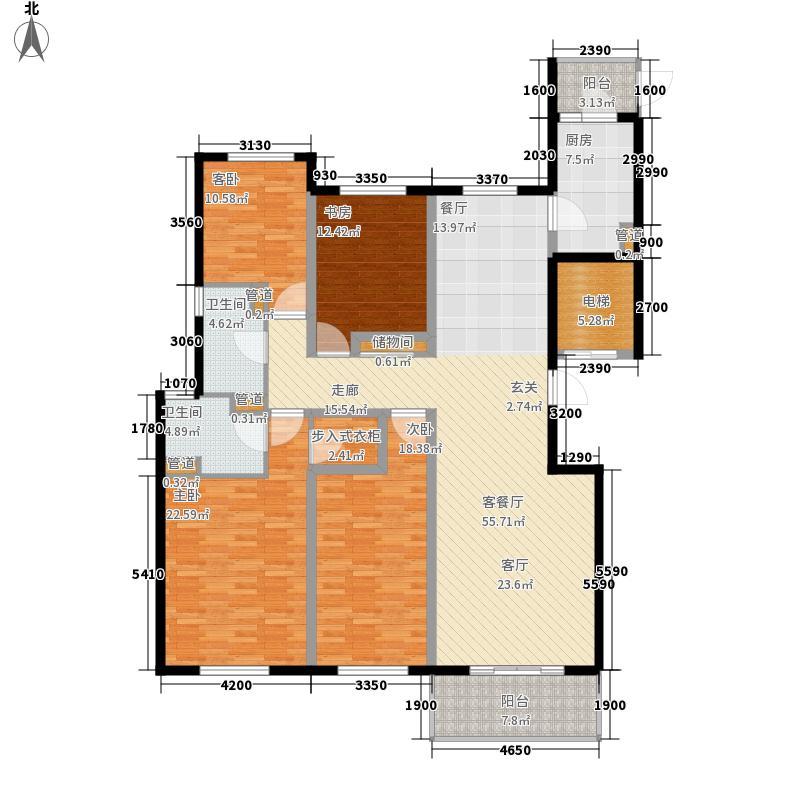 铂金时代B户型4室2厅2卫1厨