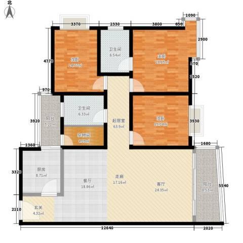 金羊花园3室0厅2卫1厨173.00㎡户型图