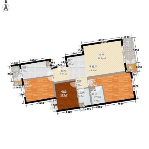 特区8083室1厅2卫1厨135.00㎡户型图