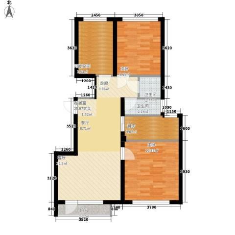 金海湾2期2室0厅2卫1厨88.00㎡户型图