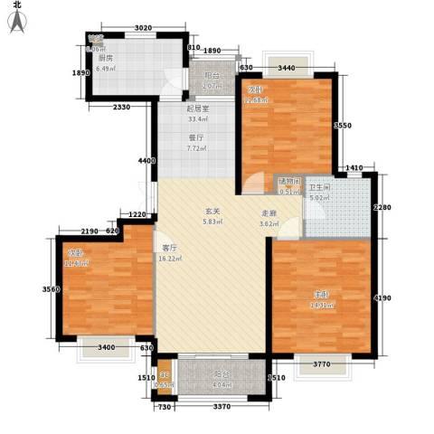 金光大道3室0厅1卫1厨103.00㎡户型图
