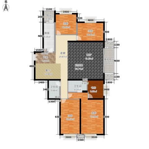 世纪城国际公馆二期5室0厅2卫1厨200.03㎡户型图