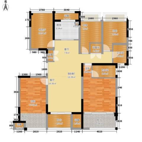 荣华世家4室1厅2卫1厨143.00㎡户型图