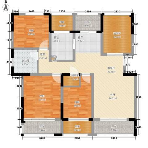 荣华世家3室1厅1卫1厨125.00㎡户型图