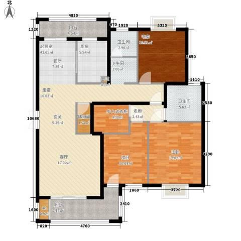 金光大道3室0厅2卫1厨131.00㎡户型图
