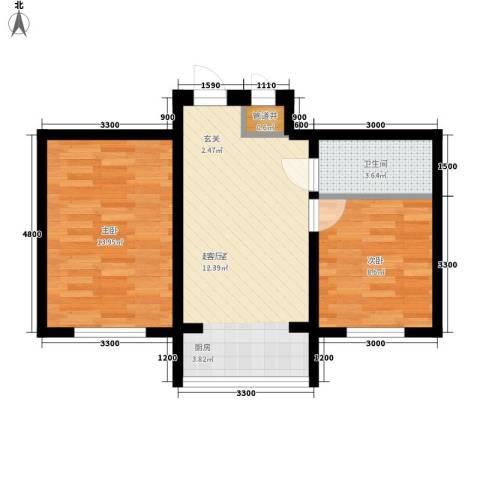 607地质家园2室0厅1卫0厨66.00㎡户型图