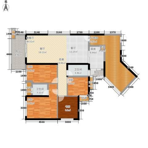 彰泰峰誉4室1厅2卫1厨152.58㎡户型图
