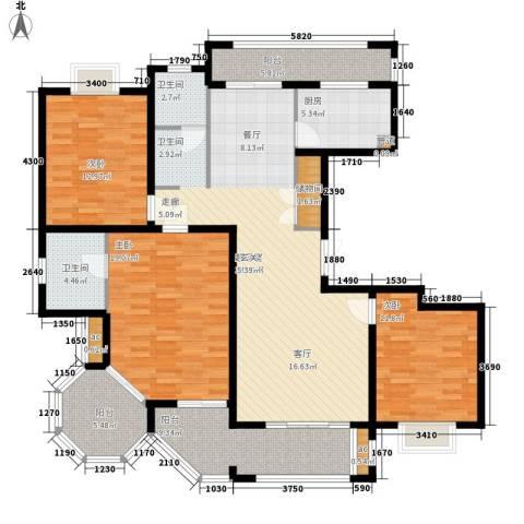 金光大道3室0厅2卫1厨137.00㎡户型图