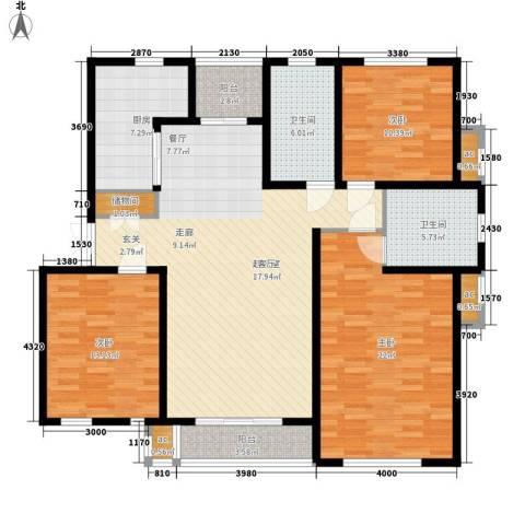 金光大道3室0厅2卫1厨129.00㎡户型图