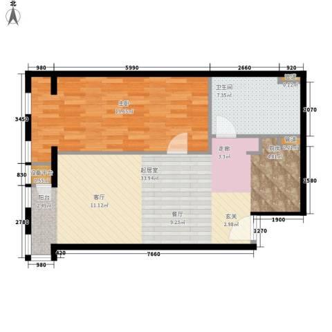 云鼎1室0厅1卫0厨85.00㎡户型图