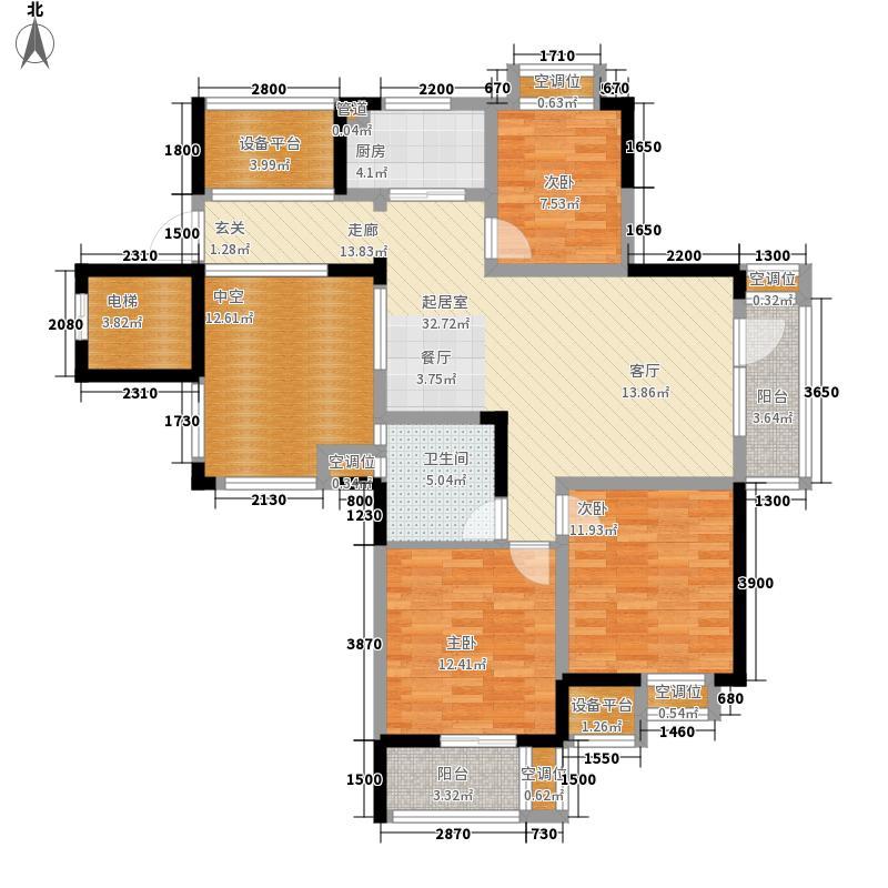闲林山水户型3室2厅1卫1厨