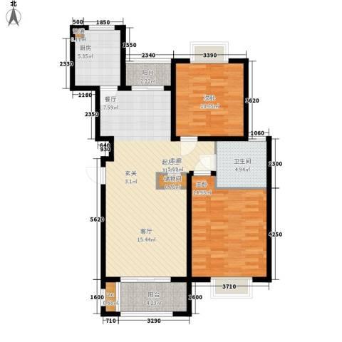 金光大道2室0厅1卫1厨88.00㎡户型图