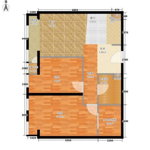 云鼎2室0厅1卫0厨102.00㎡户型图