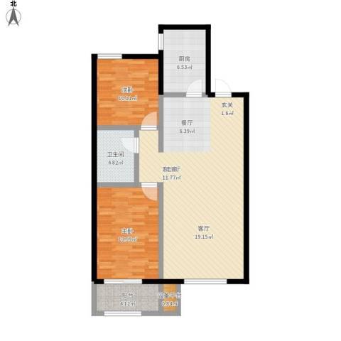 蓝钻庄园2室1厅1卫1厨113.00㎡户型图