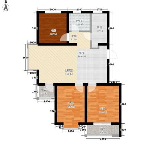 惠和经典3室0厅1卫1厨98.00㎡户型图