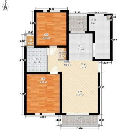 金光大道2室0厅1卫1厨91.00㎡户型图