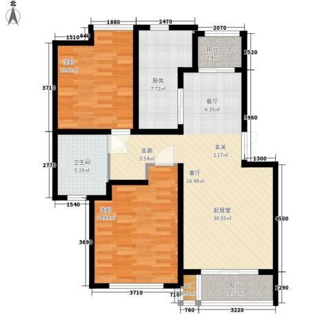金光大道2室0厅1卫1厨89.00㎡户型图