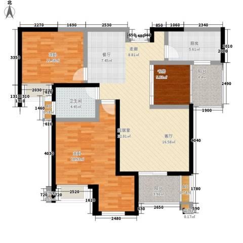 融侨锦江3室0厅1卫1厨111.00㎡户型图