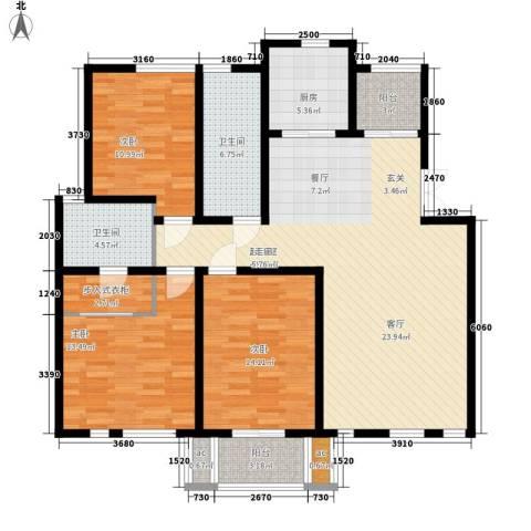 金光大道3室0厅2卫1厨123.00㎡户型图