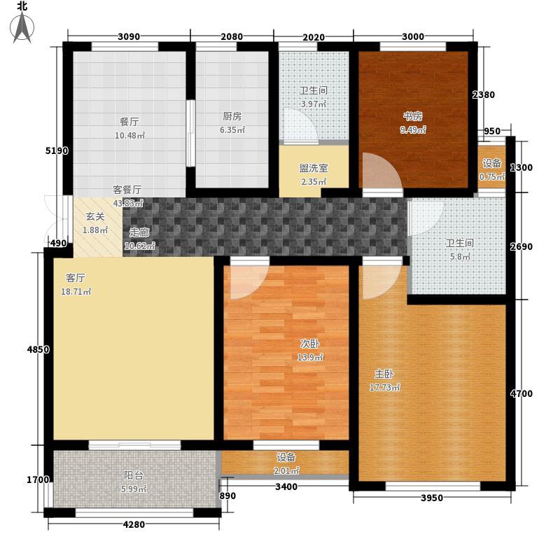帝景豪苑1期2#楼边户C3户型
