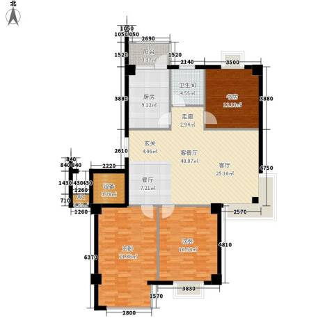国际风情3室1厅1卫1厨125.00㎡户型图